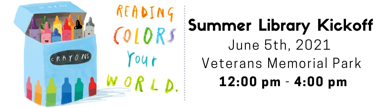Summer Library Kickoff - June 5 @ Veterans Park